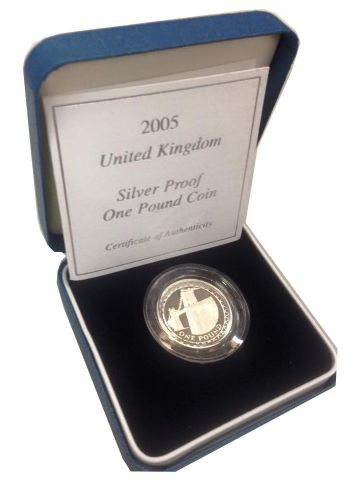 2005 Silver Proof One Pound Coin